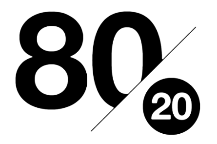 The Pareto Principle (80/20)