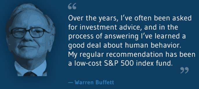 Warren Buffet (& low-cost S&P 500 index fund)