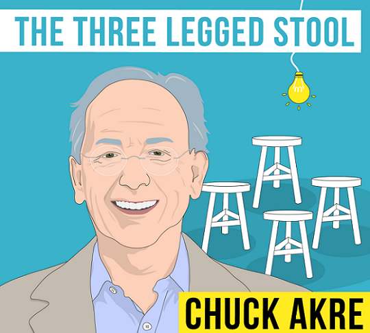Chuck Akre - kind of a Genius (3 legged stool)