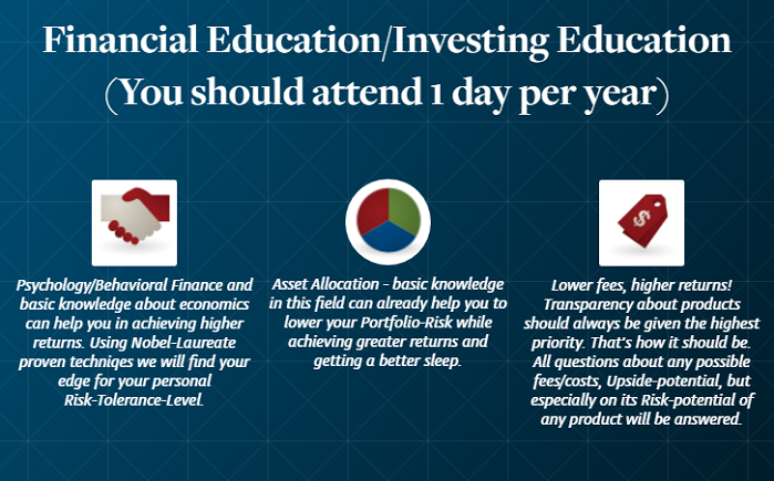 Financial Education/Investing Education (once a year)