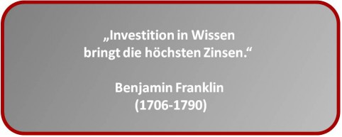 Investition in Wissen !