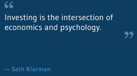 "Investing is the intersection of ""Eco & Psychology"""