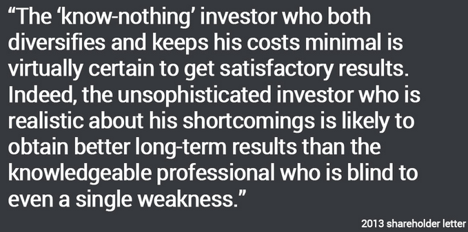 Warren Buffet quote (shareholders letter extract)