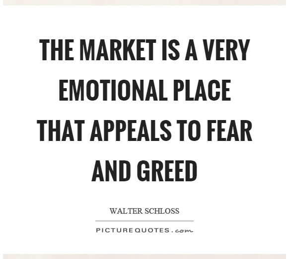 Market being a very emotional place that appeals to fear / greed !
