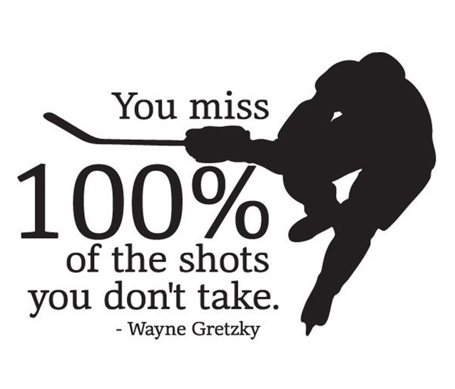 Chances and Risks (Wayne Gretzky)