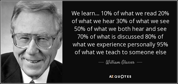 "William Glasser (""teach someone else"")"