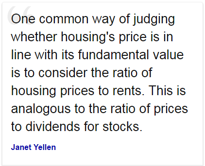 Janet Yellen quote on Dividends (!)